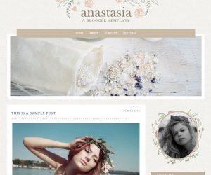 Anastasia Blogger Template by Envye