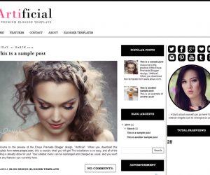 Artificial Blogger Template by Envye