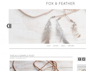 Fox and Feather Blogger Template by Envye