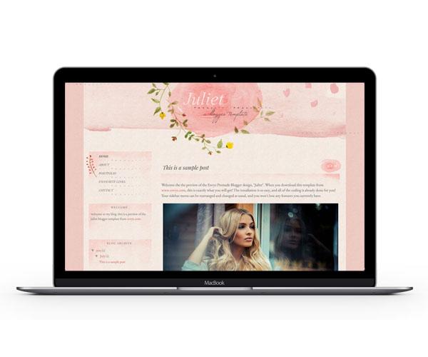 Juliet Blogger Template by Envye