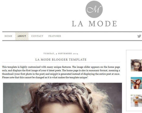 La Mode Blogger Template by Envye