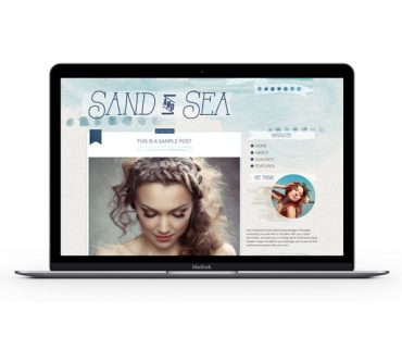 Sand & Sea Blogger Template by Envye