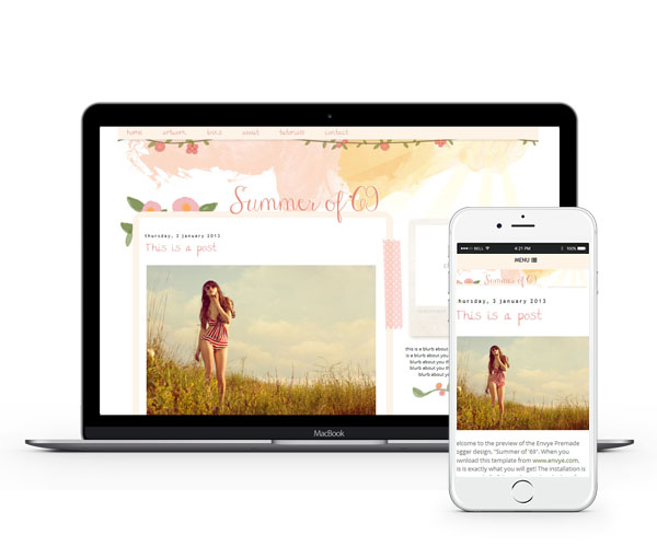 Summer of '69 Blogger Template by Envye