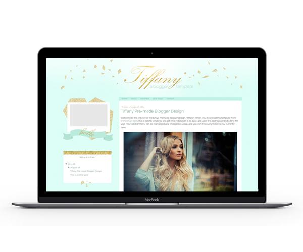 Tiffany Blogger Template by Envye