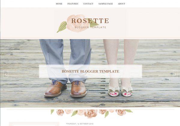 Rosette Responsive Blogger Template by Envye