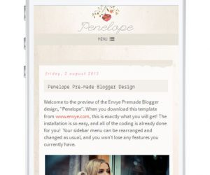 Penelope Blogger Template by Envye
