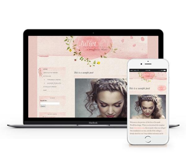 Juliet Responsive WordPress Theme by Envye
