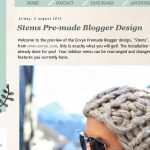 Stems Blogger Template by Envye