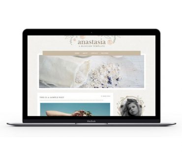 Anastasia Blogger Template by Envye