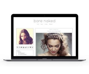 Bare Naked Blogger Template by Envye