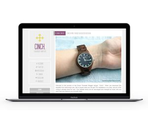 Cinch Blogger Template by Envye