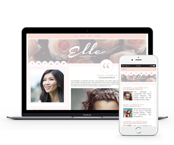 Elle Blogger Template by Envye