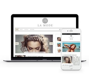La Mode Blogger Template by Envye