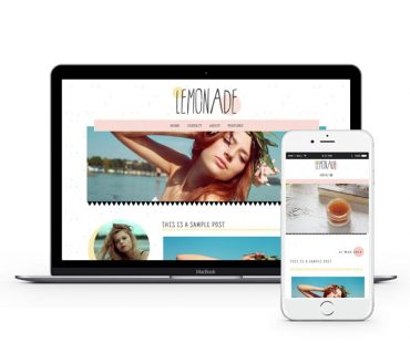 Lemonade Blogger Template by Envye