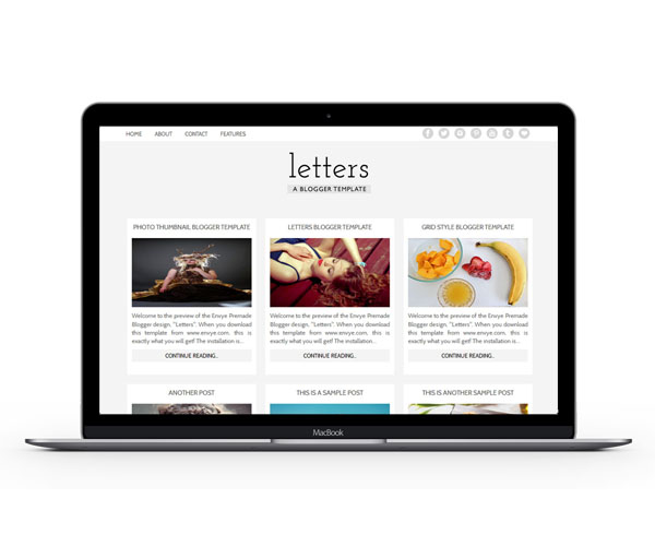 Letters Blogger Template by Envye