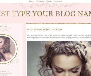 Olivia Blogger Template by Envye