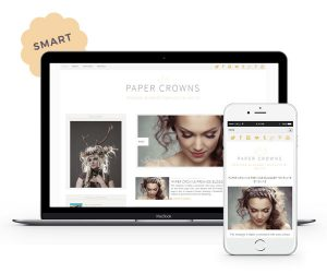 Paper Crowns Blogger Template by Envye