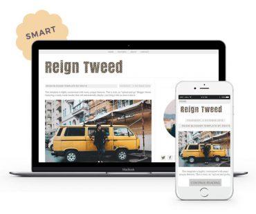 Reign Tweed Blogger Template by Envye