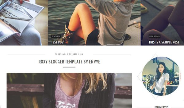 Roxy Blogger Template by Envye