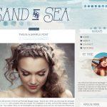 Sand & Sea Blogger Template by Envye