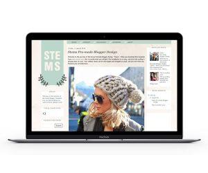 Stems Blogger Template by Envye