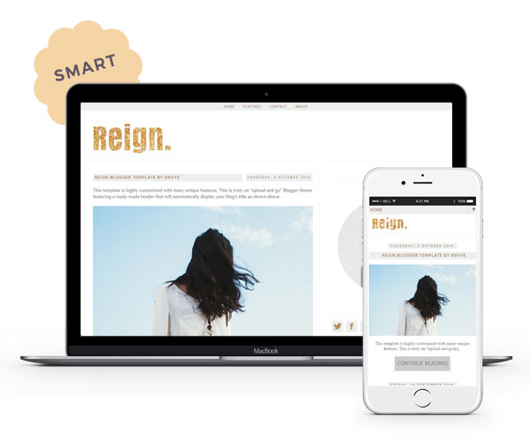 Reign Blogger Template by Envye