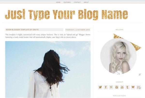 Reign Blogger Template by Envye