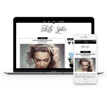 White Space Blogger Template by Envye