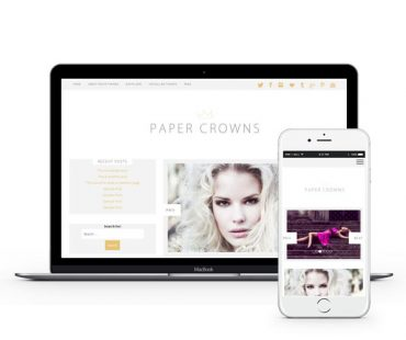 Paper Crowns WordPress Theme by Envye